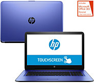 HP 17 Laptop Touch AMD A12 12GB RAM, 2TBHD with Software & MS Office 365 - E230665