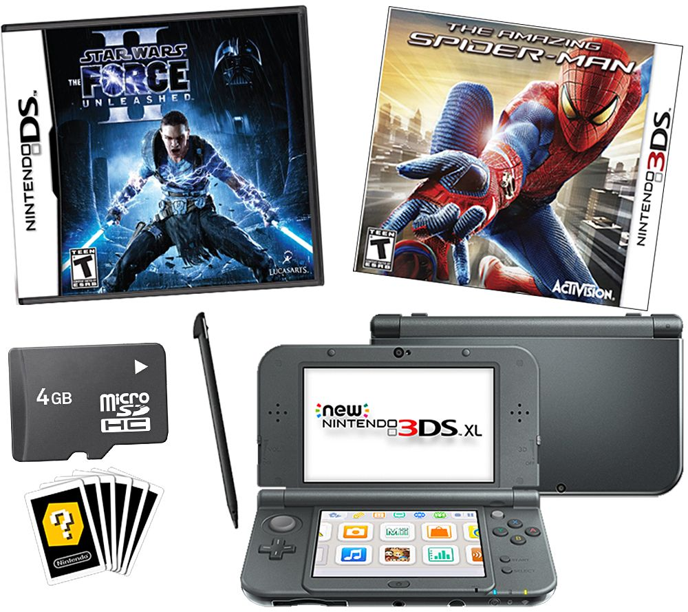 Nintendo 3ds Xl Games : New nintendo ds xl bundle with star wars and spiderman