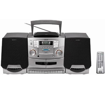 sony cfdzw755 3 piece cd radio cassette recorder. Black Bedroom Furniture Sets. Home Design Ideas