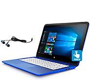 HP Stream 13 Laptop - 2GB, 32GB w/ Micrsoft365 & Earbuds - E287666