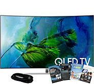 Samsung 75 QLED Curved Q4K HDR Elite TV w/ HDMI and App Pack - E291266