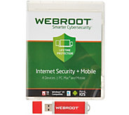 Webroot Cybersecurity for 4 Computers and/or Smartphones - E230167