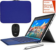 Microsoft Surface Pro 4 Blue Keyboard, w/Sleeve, Mouse Stylus & Office - E230467