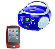 Riptunes 2.8 Bluetooth Touchscreen MP3 Playerw/ Boombox - E281367