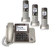 Panasonic Digital Phone & Answering System w/ 3Handsets - E283367