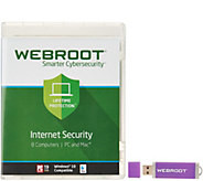Webroot Lifetime Antivirus for 8 Users PC or Mac - E230168