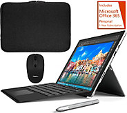 Microsoft Surface Pro 4 Black Keyboard w/Sleeve, Mouse Stylus & Office - E230468