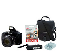 Canon PowerShot SX530 HS Wi-Fi 16MP 50x Zoom Digital Camera with Accs. - E230568