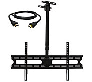 MegaMounts Tilt and Swivel Ceiling Mount 37-70 w/ HDMI Cable - E287468