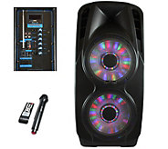 beFree Sound BFS-9000 Portable Bluetooth PA Speaker with Light - E289868