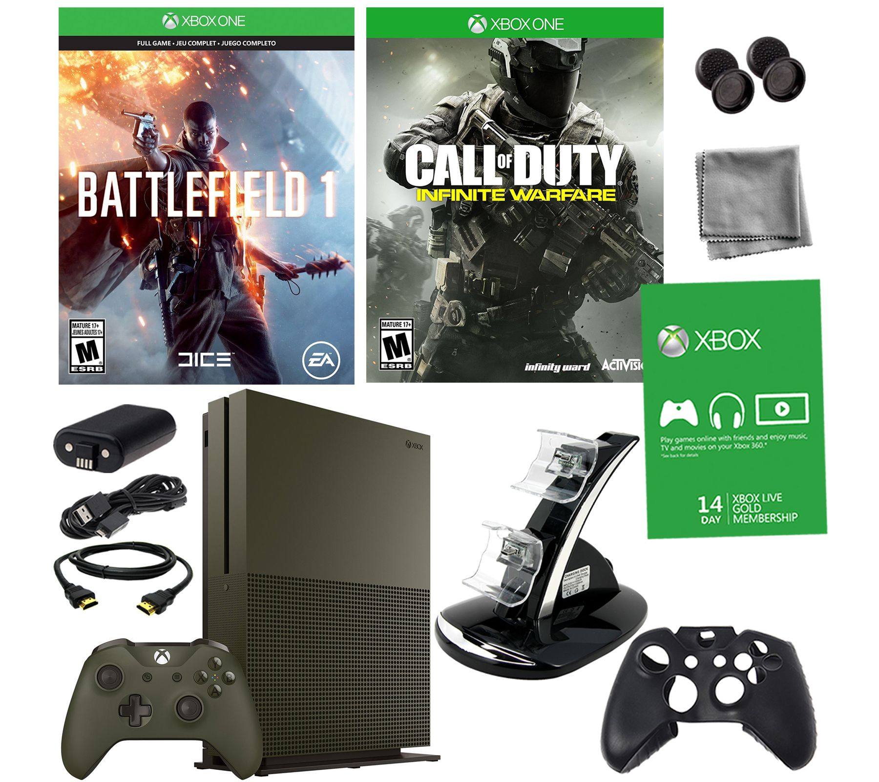 Xbox One S 1TB SE Battlefield 1 Bundle WithCall Of Duty