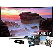 Samsung 55 Curved Smart Ultra HDTV with HDMIand App Pack - E291268