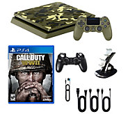 Sony Playstation 4 1TB LE Camo Call of Duty WWII Bundle - E292668