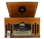 Back to the 50s 3-Speed Wooden Turntable and CDPlayer - E274969