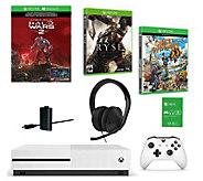 Microsoft Xbox One S 1TB Halo Wars 2 Console w/2 Games - E291869