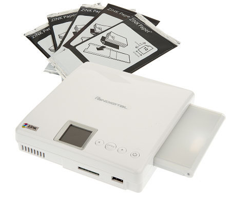"PanDigital Portable Zink 4""x6"" Photo Printer with 45pc Paper Pack"