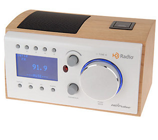 Hd Pulse Hd Radio Tabletop Clock Radio Wood Finish
