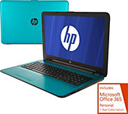 HP 15 Laptop AMD A12, 12GB 2TB HDD with MS Office 365 & Tech Support - E230371