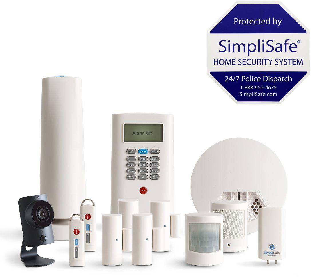 SimpliSafe 13 Piece Home Security System w HD Camera Smoke