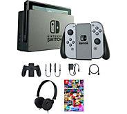 Nintendo Switch with Gray Joy-Con, Mario Kart 8& Accessories - E291371