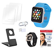 Apple Watch Sport 38MM with 2 Bands, Stand, 2Yr. Support & Accessories - E228272