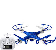 Quadrone Pro Cam Drone w/ Video, Photo Flip Stunts, 2 Extra Batteries - E228472