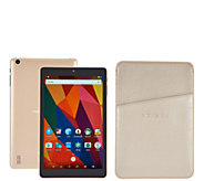 NuVision 8 HD Android 16GB QuadCore Tablet w/ Leatherette Case & Vouchers - E230472