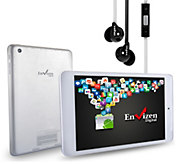 Envizen 7.85 Quad-Core, 8GB, Android Tablet with Earbuds - E286472