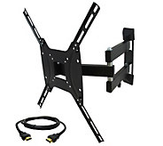 MegaMounts Full-Motion TV Wall Mount 26 to 55w/ HDMI Cable - E287472