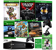 Xbox One 1TB Bundle with 6 Games and App Pack - E287972