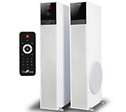 beFree Sound TP100 Bluetooth Tower Speaker Pair- White - E289872