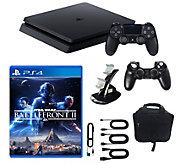 Sony PlayStation 4 1TB Slim Star Wars Battlefro nt II Bundle - E292672