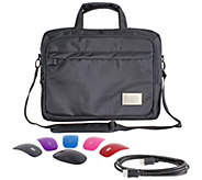ToteIt! Deluxe 17 Laptop Case w/ Switch Lid Wireless Mouse & 6 HDMI Cable - E228573