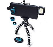 Poser Snap 6-Piece Mobile Photo & Video Studio Kit with FlexArm Tripod - E230873