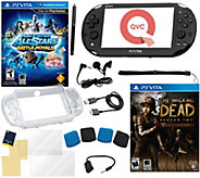 PS Vita Bundle with Walking Dead, Battle Royale& 14-in-1 Kit - E286073