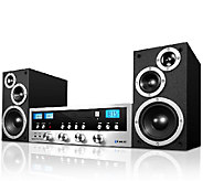 Classic CD Stereo System w/ Bluetooth Speakers & AM/FM Radio - E227374
