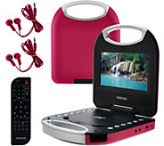 Craig 7 Portable DVD Player Purse Style w/ Accessories - E227774