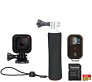 GoPro HERO Session Camera Floating Hand Grip, Remote & 16GB SD Card - E229374