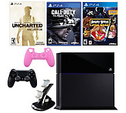 PS4 Uncharted Bundle with Call of Duty: Ghosts & Angry Birds - E287674
