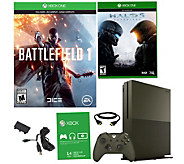 Xbox One S 1TB Special Edition Battlefield 1 Bundle w/ Halo 5 - E290274