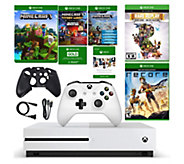 Xbox One S 500GB Minecraft Bundle with ReCore &Rare Replay - E292774