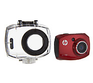 HP AC100 Action Camera w/ 1080P HD 2.4 LCD & Waterproof Case - E224975