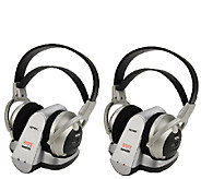 2 Pack Cordless Stereo Headphones Royal WES 50900MHZ - E285575