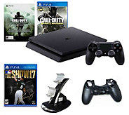 PlayStation 4 Slim 500GB with Call of Duty & MLB 17 The Show - E291475