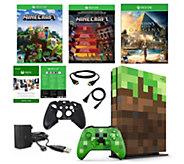 Xbox One S 1 TB Minecraft Console w/ AssassinsCreed Origins - E294375