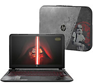 15 Star Wars Special Edition HP Notebook, Core i5, Sleeve & Lifetime Tech - E228276