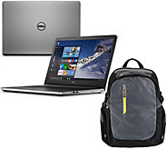 Dell 15 Laptop Windows 10 AMD A10 Quad Core 12GB RAM 1TB HD Tech & Backpack - E228976