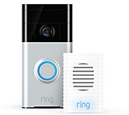 Ring Video Doorbell Two-Way Audio HD Surveillance w/ Chime - E231776
