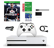 Xbox One S 500GB Madden NFL 18 Bundle  with Play & Charge Kit - E292776