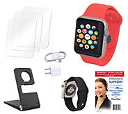 Apple Watch Sport 42MM with 2 Bands, Stand 2Yr. Support & Accessories - E228277